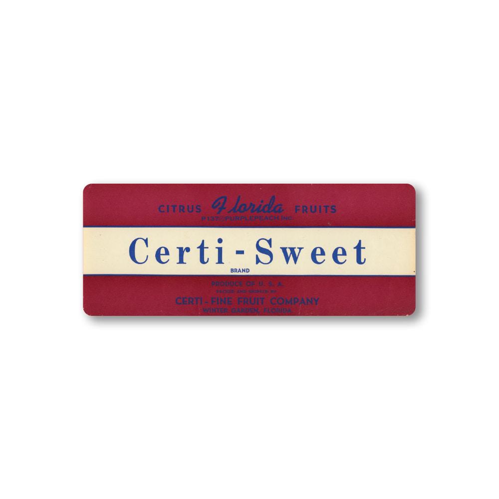 Certi-Sweet